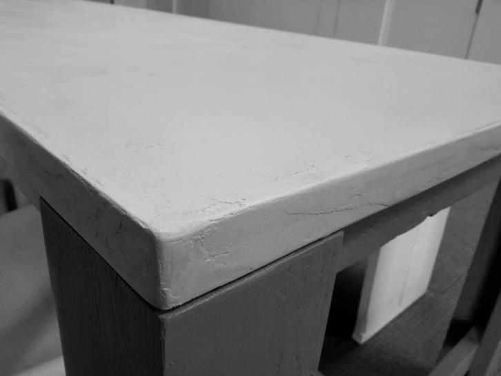 Detail Tafelblad, betonciré, betonlook