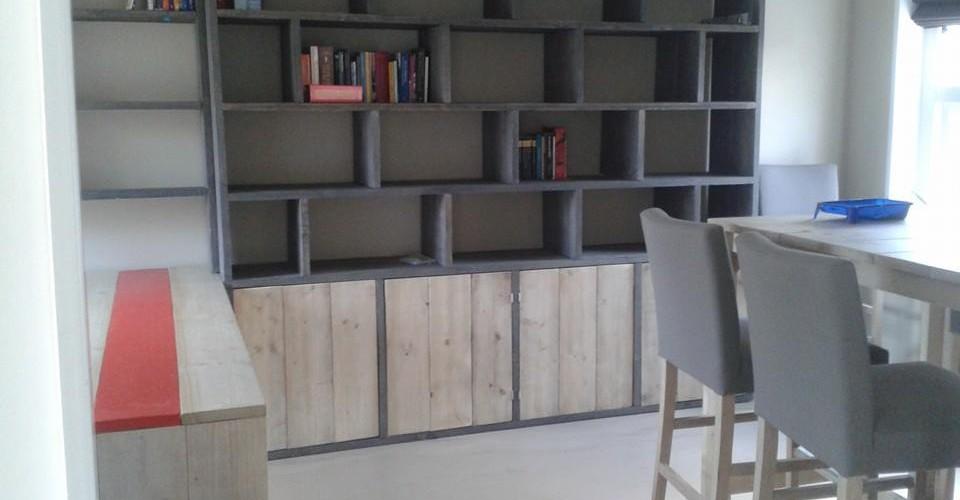 steigerhout, wandmeubel, interieur, studio steigerhout