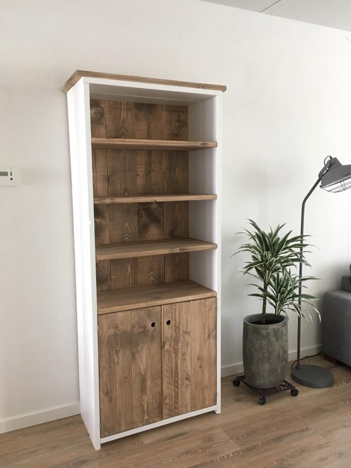 Steigerhout kast, oud hout, landelijke kast