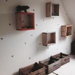 Wandkastjes van steigerhout