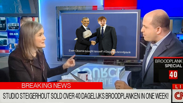CNN geeft aandacht aan de Dagelijks broodplank