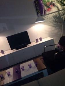 Tv-meubel en salontafel steigerhout