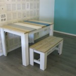 Tafel met bankje van steigerhout